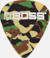 Boss Thin Plektra 12-pack Camo
